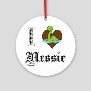 I [HEART] NESSIE Ornament (Round)